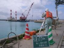 都屋漁港護岸及び浮桟橋工事